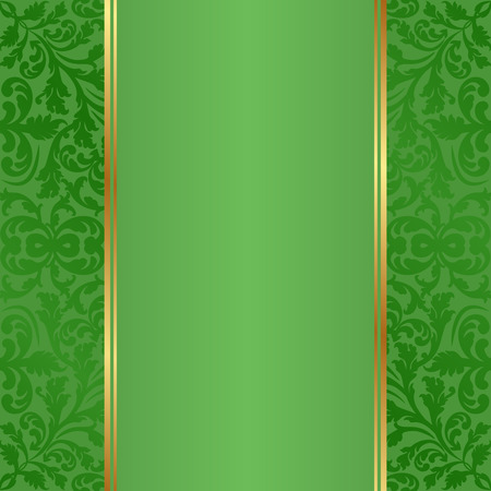 fond vert avec des ornements d'époque