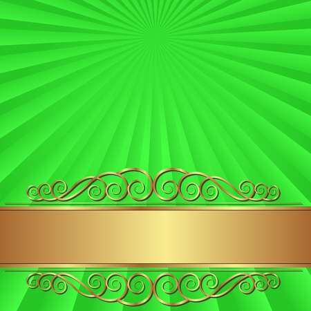 shone: green background with vintage ornament
