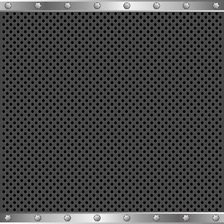 metallic border: dark textured background with metallic border