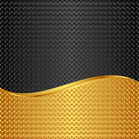 divided: golden and black background divided into two Illustration