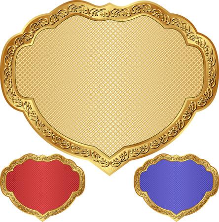 shone: set of vintage badges Illustration