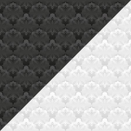 divided: white and black pattern Illustration