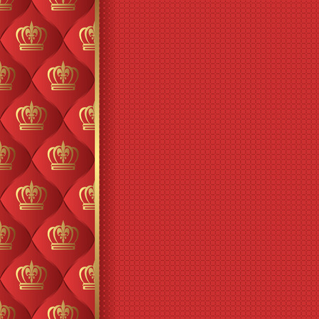 royal background: rad background with royal pattern Illustration