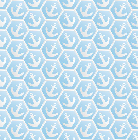 grapnel: blue pattern seamless with anchors