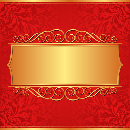 shone: ornate background with golden banner