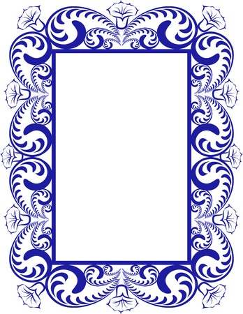 creative arts: floral border - design element