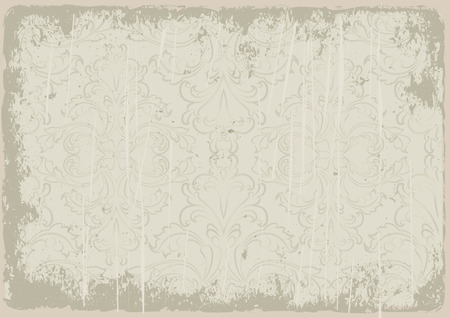 dilapidated: grunge background with vintage ornaments