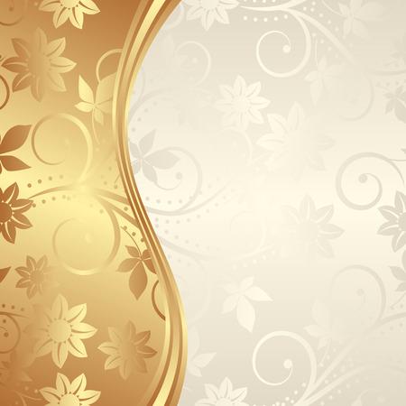 gouden achtergrond met florale ornamenten