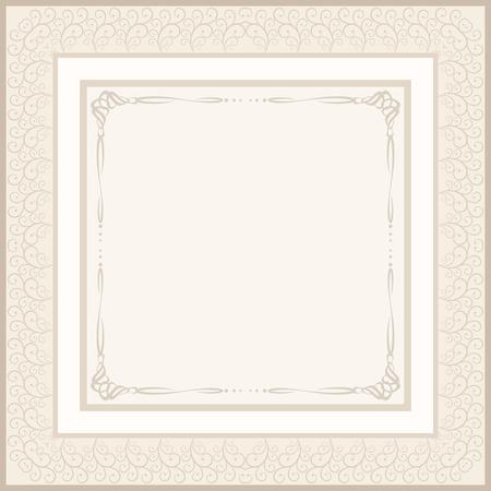 vintage background for invitation or etiquette Vector