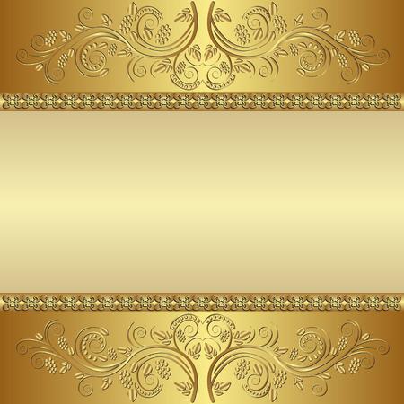ornate golden background Vector