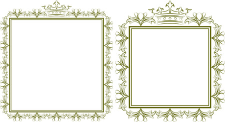quadrat: silhouette of royal frames Illustration