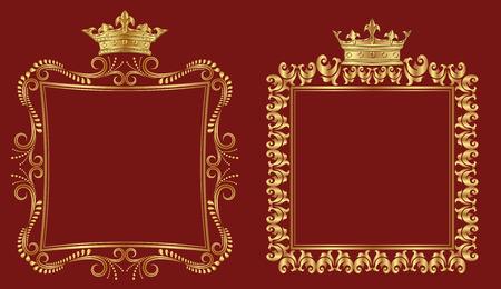 set of royal borders Illustration