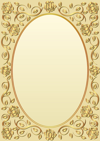 golden border: background with golden border Illustration