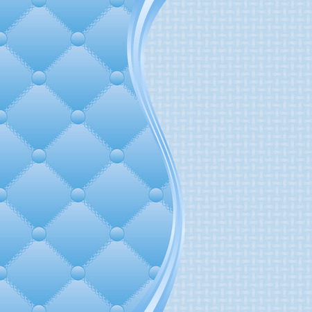 quilted fabric: blue textured background divided into two