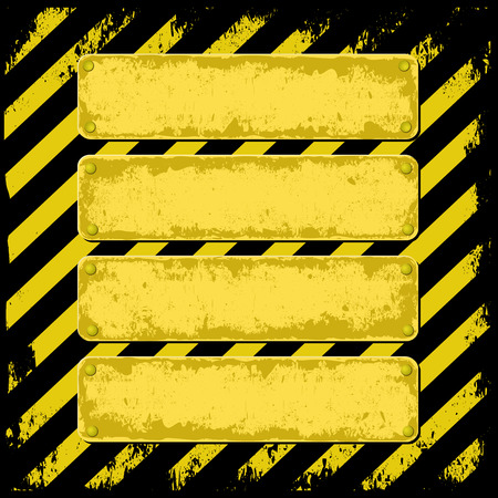 dangerous construction: danger background with four grunge banners Illustration