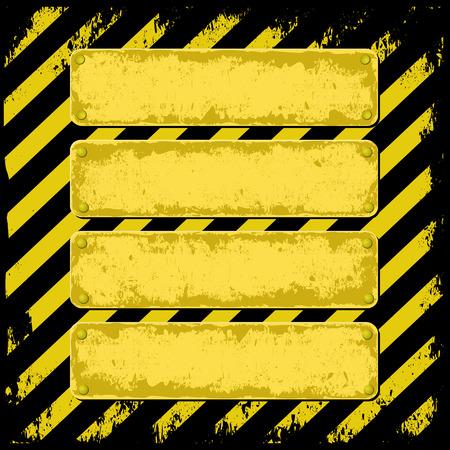 peligro: fondo peligro con cuatro banderas del grunge
