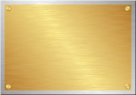 golden and silver plaque