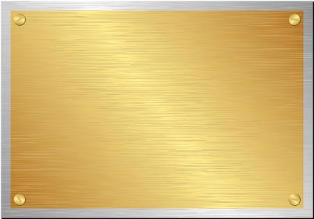 placa bacteriana: placa de oro y plata