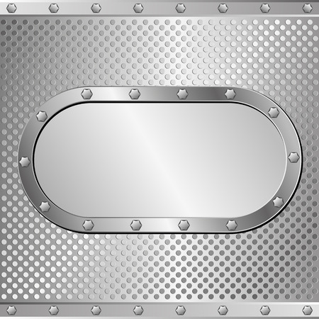 steel background: steel background with banner Illustration