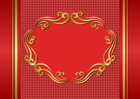 Vintage background with golden ornaments Vector