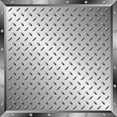 steel plate: steel sheet with metal frame Illustration