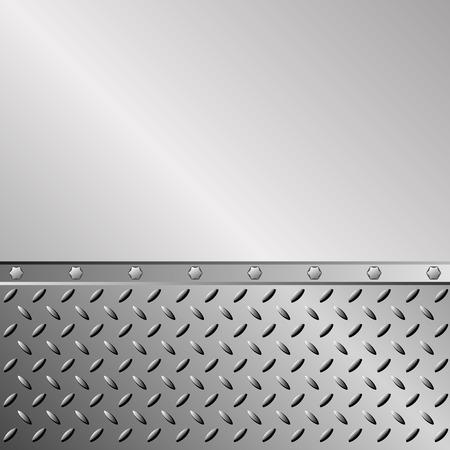 sheet iron: metal background with iron sheet Illustration