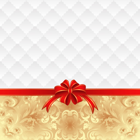 vintage background with red ribbon Vector