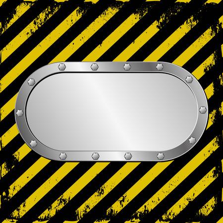 barrier tape: danger background and metal plaque Illustration