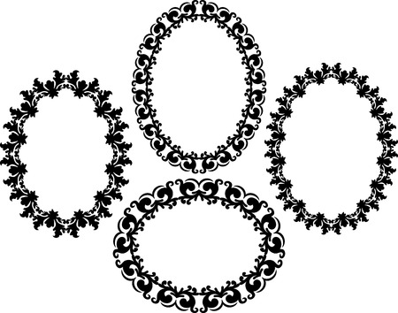 ornate frames: silhouette of ornate frames Illustration