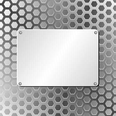 truss: metal plaque on truss background Illustration