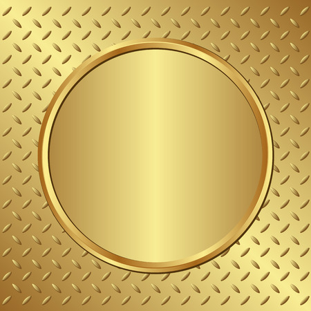 golden background with banner