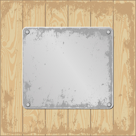 plaque: grunge wooden background with plaque
