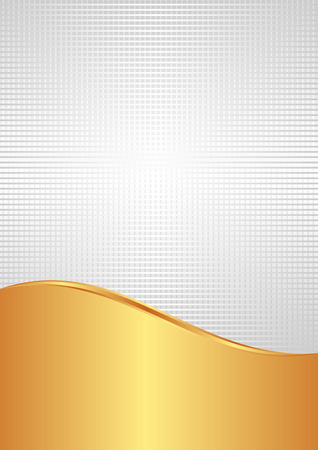 the divided: white and gold background divided into two Illustration