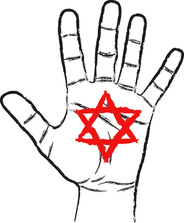 hexagram: hand with Star of David