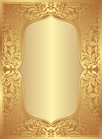 victorian frame: golden background with vintage frame