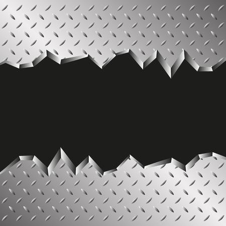 metales: fondo metálico dentado Vectores