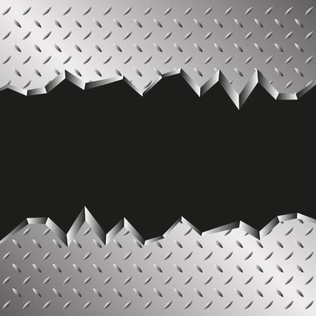 metals: jagged metallic background Illustration