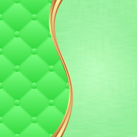 textile background: green background with textile texture Illustration
