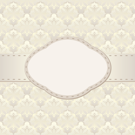 vintage background with frame Illustration
