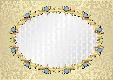 shone: ornate background with decorative frame Illustration