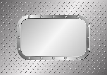 metal sheet: plaque on metal background Illustration