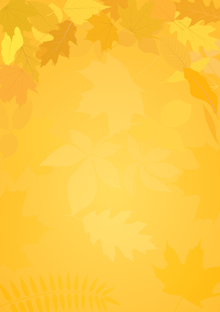 birch leaf: autumn background with leaves Illustration