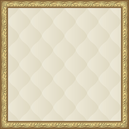 creamy: creamy pattern with golden frame Illustration