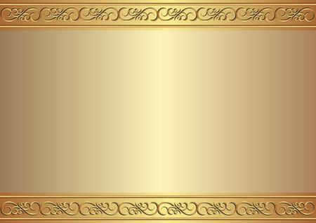 fundo dourado com ornamento