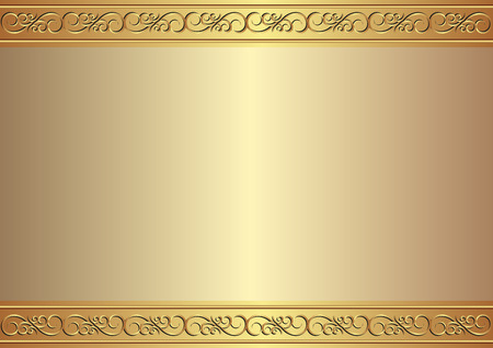 golden frame: golden background with ornament