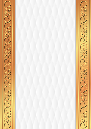 on white background: white background with golden ornament