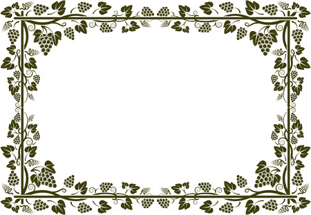 silhouette of grapevine frame