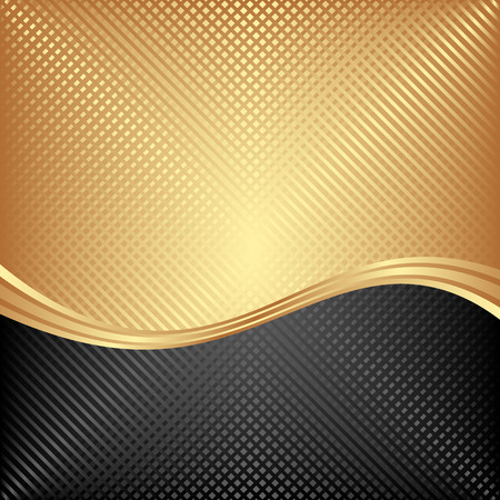 divided: black and golden background divided into two Illustration