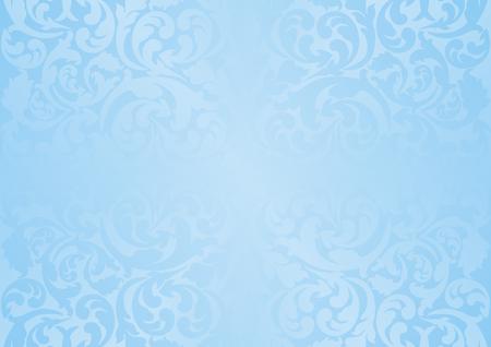 fond bleu avec motif vintage Vecteurs