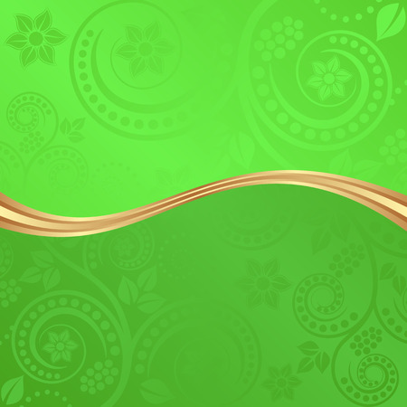 divided: flourish background divided into two